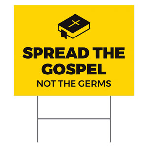 Yellow Spread the Gospel YardSigns