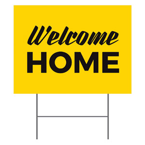 Yellow Welcome Home YardSigns