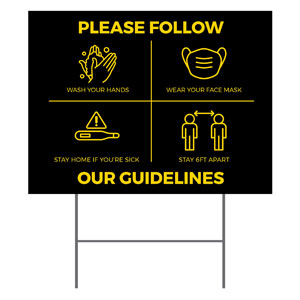 Jet Black Guidelines YardSigns