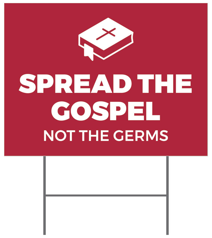 Yard Signs, Welcome Back, Red Spread the Gospel, 18 x 24