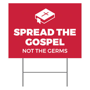 Red Spread the Gospel YardSigns