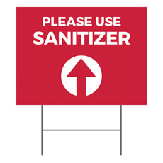 Red Sanitizer Arrow