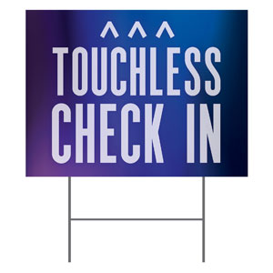 Aurora Lights Touchless Check In YardSigns