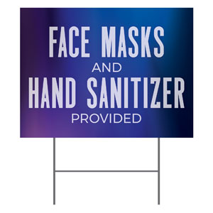 Aurora Lights Masks Sanitizer YardSigns