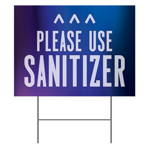 Aurora Lights Sanitizer Arrow YardSigns