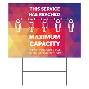 Geometric Bold Maximum Capacity YardSigns