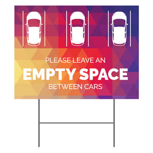 Geometric Bold Empty Space YardSigns
