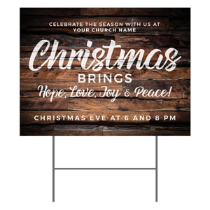 Dimensional Wood Christmas YardSigns