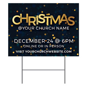Christmas At Bokeh YardSigns