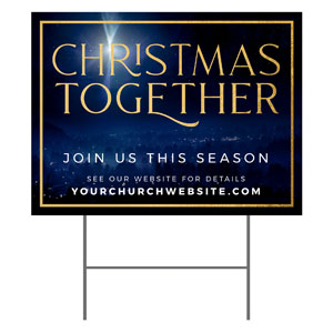 Christmas Together Night YardSigns