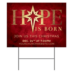 Hope Is Born Star YardSigns