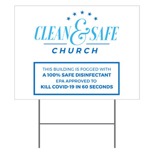 Clean and Safe Church YardSigns