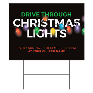Drive Through Christmas Lights YardSigns