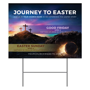 Journey To Easter YardSigns