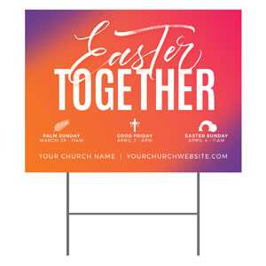Easter Together Hues YardSigns