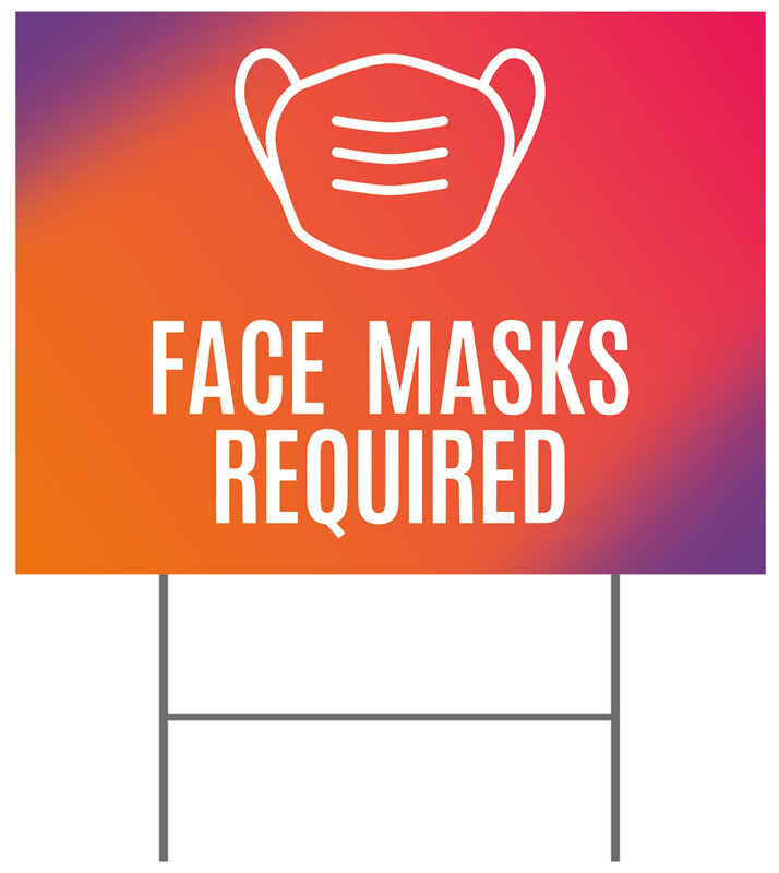 Yard Signs, Easter, Easter Together Hues Face Masks Required, 18 x 24