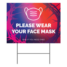 Celebrate Easter Crown Face Mask