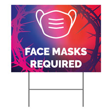 Celebrate Easter Crown Face Masks Required