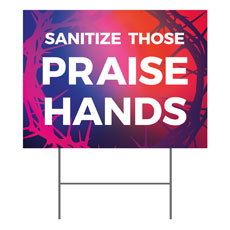 Celebrate Easter Crown Praise Hands