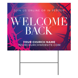 Celebrate Easter Crown Welcome Back YardSigns