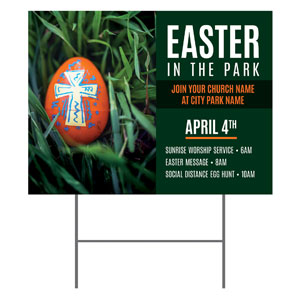 Easter In Park Grass YardSigns