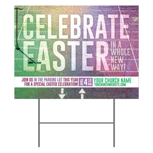 Easter New Way YardSigns