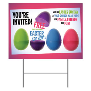 Egg Hunt Plastic Eggs YardSigns