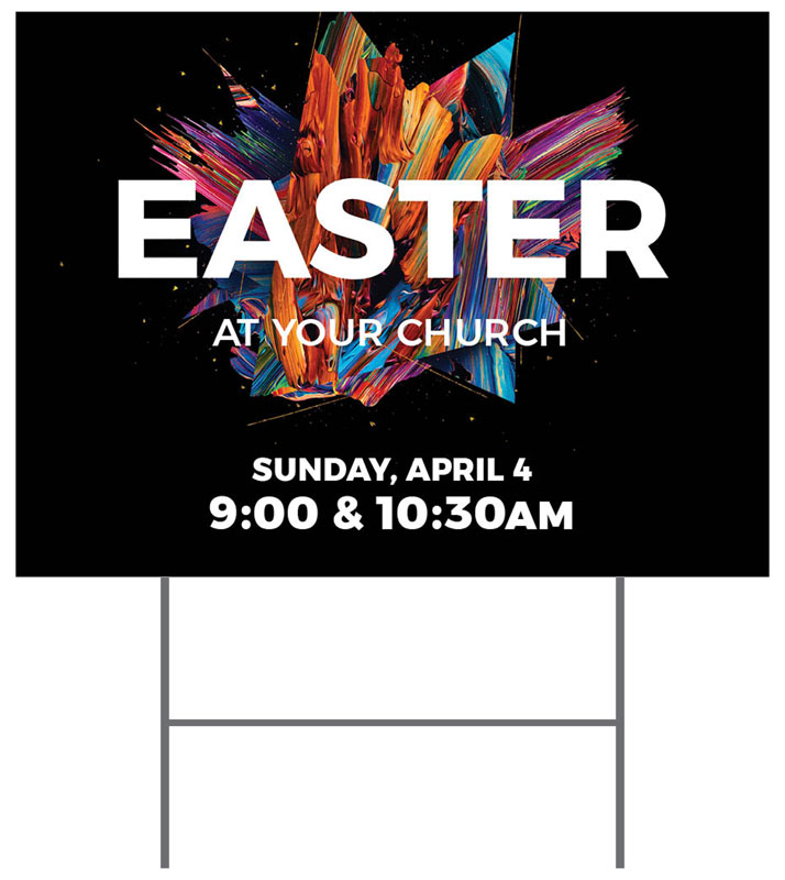 Yard Signs, You're Invited, CMU Easter Invite 2021, 18 x 24