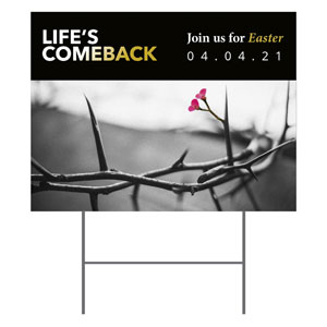 Life's Comeback YardSigns