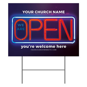 Open Neon YardSigns