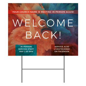 Welcome Back Burst YardSigns