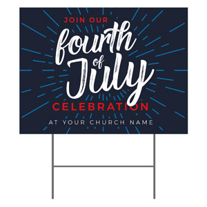 Fourth of July Burst YardSigns