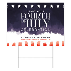 Fourth of July Paint YardSigns